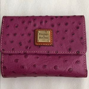 Dooney and Bourke Leather Ostrich-like Wallet NWT